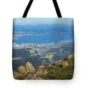 View Of City From Mountain Top Tote Bag