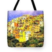 View Of Corniglia - Cinque Terre Tote Bag