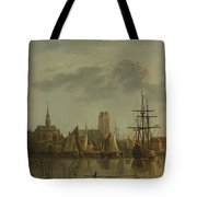 View Of Dordrecht At Sunset Tote Bag