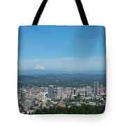 View Of Downtown Portland Oregon From Pittock Mansion Tote Bag