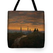 View Of Dresden At Sunset  Tote Bag