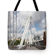 View Of Golden Jubilee Bridge, Thames Tote Bag