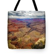 View Of Grand Canyon And Colorado River From Pima Point Tote Bag by John Hight