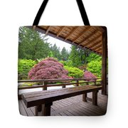 View Of Japanese Garden From The Veranda Tote Bag