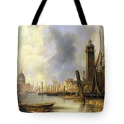 View Of London With St Paul's Tote Bag