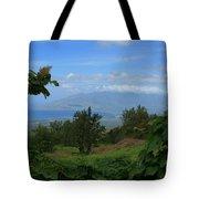 View Of Mauna Kahalewai West Maui From Keokea On The Western Slopes Of Haleakala Maui Hawaii Tote Bag