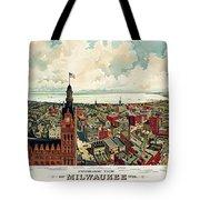 View Of Milwaukee 1898 Tote Bag