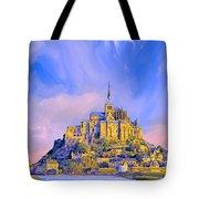 View Of Mont Saint Michel Tote Bag
