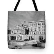 View Of Montgomery County Courthouse From The Southside In Black Tote Bag