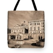 View Of Montgomery County Courthouse From The Southside In Sepia Tote Bag
