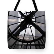 View Of Montmartre Through The Clock At Museum Orsay.paris Tote Bag