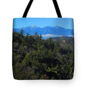 View Of Mount Baldy From The San Bernardino Mountains Tote Bag