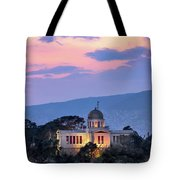 View Of National Observatory Of Athens In The Evening, Athens, G Tote Bag