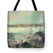 View Of New York From Brooklyn Heights Ca. 1836, John William Hill Tote Bag