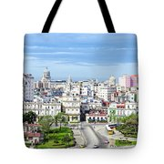 View Of Old Town Havana Tote Bag