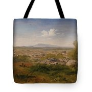 View Of Orange With Mont Ventoux Tote Bag