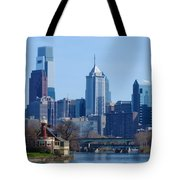 View Of Phliadelphia From West River Drive. Tote Bag