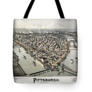 View Of Pittsburgh, 1902 Tote Bag