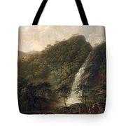 View Of Powerscourt Waterfall Tote Bag