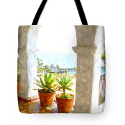 View Of San Clemente Pier Tote Bag