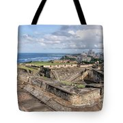 View Of San Juan From The Top Of Fort San Cristoba Tote Bag