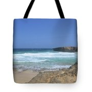 View Of Small Aruba Rock Formation On Boca Keto Tote Bag