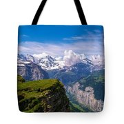 View Of The Swiss Alps Tote Bag