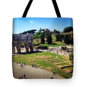 View Of The Arch Of Constantine From The Colosseum Tote Bag
