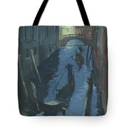 View Of The Bridge Of Sighs At Night. Tote Bag