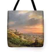 View Of The Butte Montmartre Tote Bag by Louis Jacques Mande Daguerre