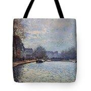 View Of The Canal Saint-martin Paris Tote Bag