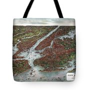 View Of The City Of New York And Vicinity Tote Bag