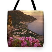 View Of The Coastline From The Hotel Tote Bag