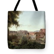 View Of The Colosseum From The Farnese Gardens Tote Bag by Jean Baptiste Camille Corot