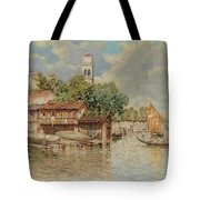 View Of The Gondola Shipyard In San Trovaso Tote Bag