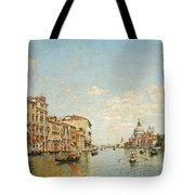 View Of The Grand Canal Of Venice Tote Bag