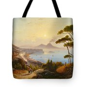 View Of The Gulf Of Naples Tote Bag