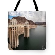 View Of The Hoover Dam Lake With Low Water Reserves Tote Bag