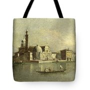 View Of The Isola Di San Michele In Venice Tote Bag