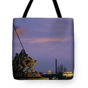 View Of The Iwo Jima Monument Tote Bag