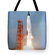 View Of The Liftoff Of Mercury-atlas 5 Tote Bag