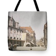 View Of The Market Horn  With The Statue Of Jan Pietersz Coen And The Waag Anonymous  1907   1930 Tote Bag