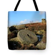 View Of The Mother Cap Gritstone Rock Formation, Millstone Edge Tote Bag