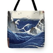 View Of The Naruto Whirlpools At Awa Tote Bag by Hiroshige