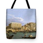 View Of The Riva Degli Schiavoni. Venice Tote Bag