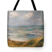 View Of The Sea Guernsey Tote Bag by Pierre Auguste Renoir