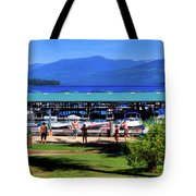 View Of The Selkirk Mountains Tote Bag