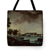 View Of The Town And Port Of Bayonne Tote Bag