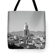 View Of The Village And The Clocher Of Saint-tropez Tote Bag