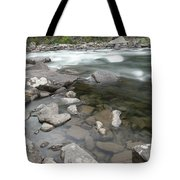 View Of The Wenatchee River Tote Bag